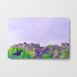 Edinburgh Castle-Edinburgh, Scotland United Kingdom Metal Print