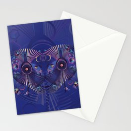 Stylized sound speaker with geometric elements Stationery Cards