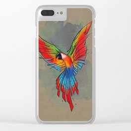 Colors of the Macaw Clear iPhone Case