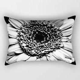 Chalk and charcoal flower Rectangular Pillow