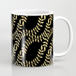 Luxe Leaves Intertwined Seamless Pattern, Hand Drawn Nature Coffee Mug