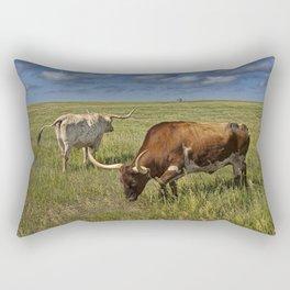 Longhorns on the Prairie Rectangular Pillow