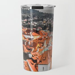 Cesky Krumlov Panoramic view Travel Mug