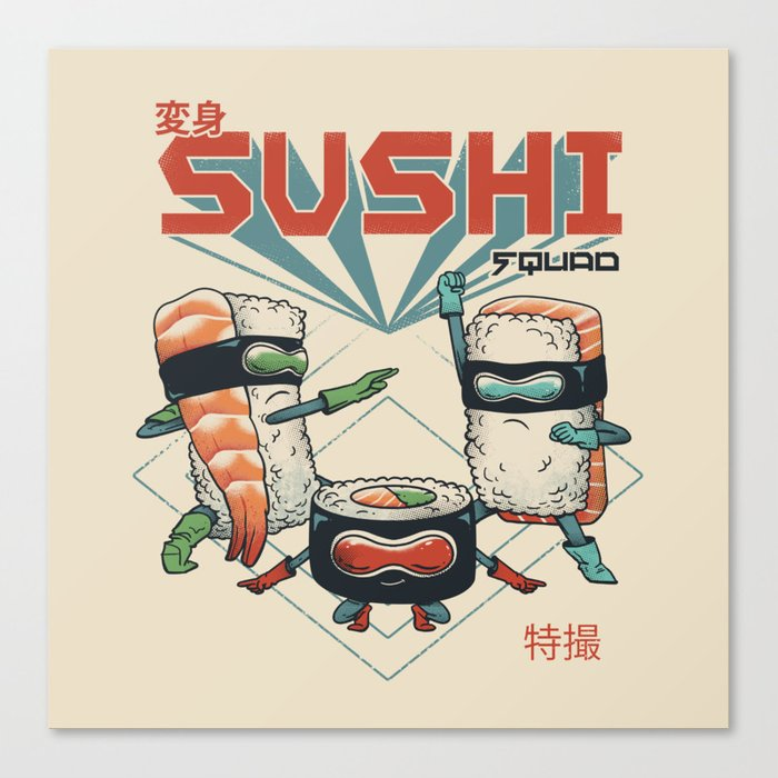 Sushi Squad Canvas Print