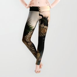 Awesome t-rex skeleton Leggings