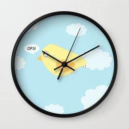 Funny: Kawaii Bird OPS!  Wall Clock