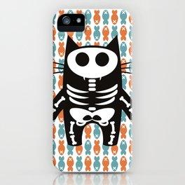 Meow Skeleton iPhone Case