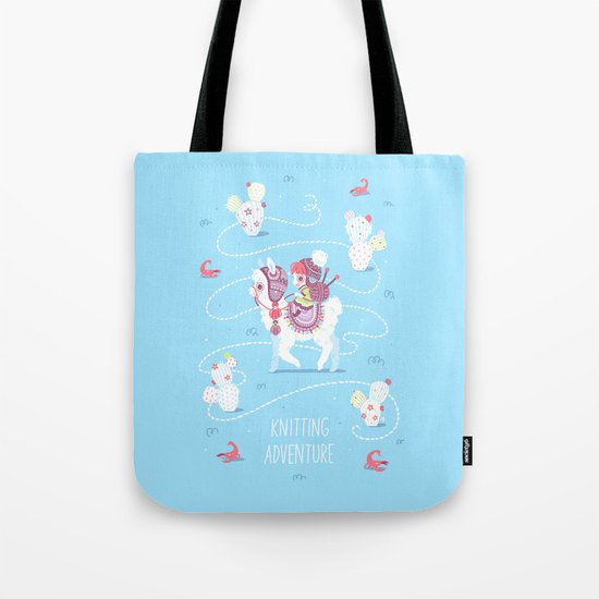 Knitting Adventure Tote Bag