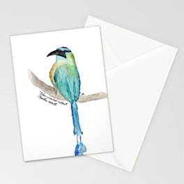 Blue crowned motmot Stationery Cards