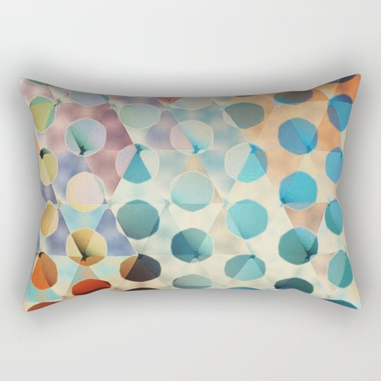 Circles on Triangles Antique Rectangular Pillow