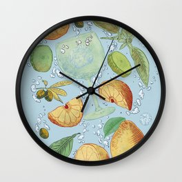 Gin and tonic Wall Clock