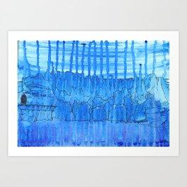 Glacial Cavern Art Print