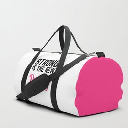 Strong Is the New Pretty Gym Quote Duffle Bag