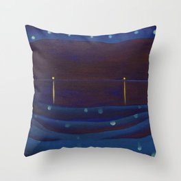 Starlight Night, Lake George, New York landscape painting by Georgia O'Keeffe Throw Pillow