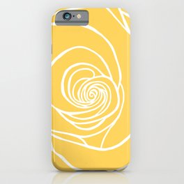 Sunshine Yellow Rose Drawing iPhone Case