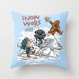 Snow Wars Throw Pillow
