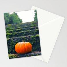 Stairway pumpkin Stationery Cards