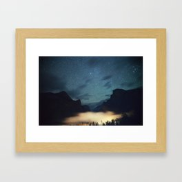 Stars Over Yosemite Framed Art Print