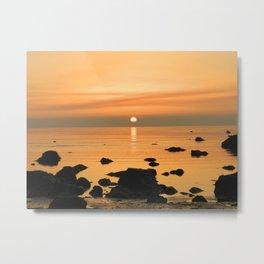Sunset Ayrshire coast (Scotland) Metal Print