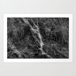 Waterfalls - Black And White Fine Art At Barron Gorge National Park Art Print