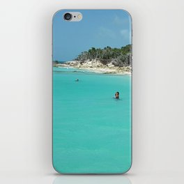 Swimming in the West Indies iPhone Skin