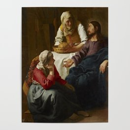 """Johannes Vermeer """"Christ in the House of Martha and Mary"""" Poster"""