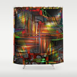 Bio-Digital Shower Curtain