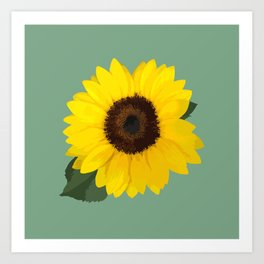 Simple Sunflower Art Print