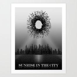 Sunrise in the City Art Print