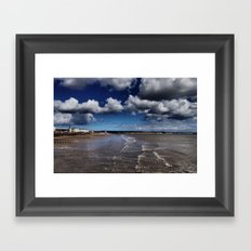 Bridlington Coastline Framed Art Print