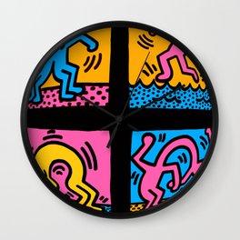 Keith Haring Pop Shop Quad Wall Clock