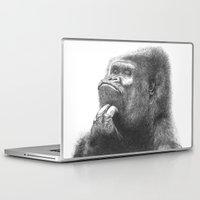 gorilla Laptop & iPad Skins featuring Gorilla by Nasir Nadzir