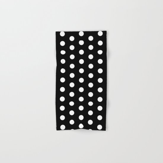 Black White Dots Hand & Bath Towel
