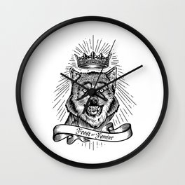 """Feast Or Famine"" – Crowned Wolf Wall Clock"