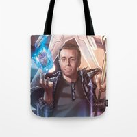 persona Tote Bags featuring Persona Goldie by pandamusk