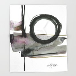 Enso Abstraction No. 112 by Kathy morton Stanion Throw Blanket