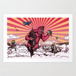 Beer Kong Art Print