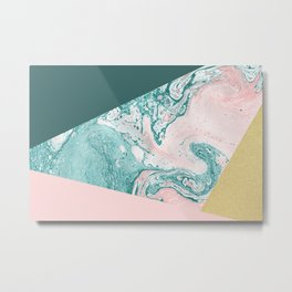 Marble Colors Metal Print