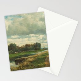Landscape in the Environs of The Hague - Willem Roelofs (I) (1870-1875) Stationery Cards