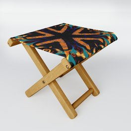 Tribal Geometric Folding Stool