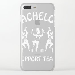 Bachelor Support Team  Beer Drinkers (Stag Party  White) Clear iPhone Case