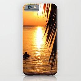 Island sunset relaxation iPhone Case
