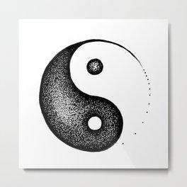 Yin Yang Metal Print