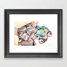 Spilled Cans Framed Art Print