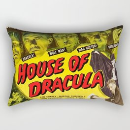 House of Dracula, vintage horror movie poster Rectangular Pillow