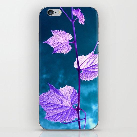 violet wine leafs II iPhone & iPod Skin