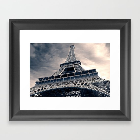 Towering Eiffel Tower Framed Art Print