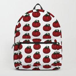 Garden Tomato Illustrated Pattern Print Backpack
