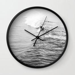 LETS SURF VIII / Manhattan Beach, California Wall Clock