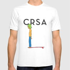 CRSA simple surfer poster MEDIUM White Mens Fitted Tee